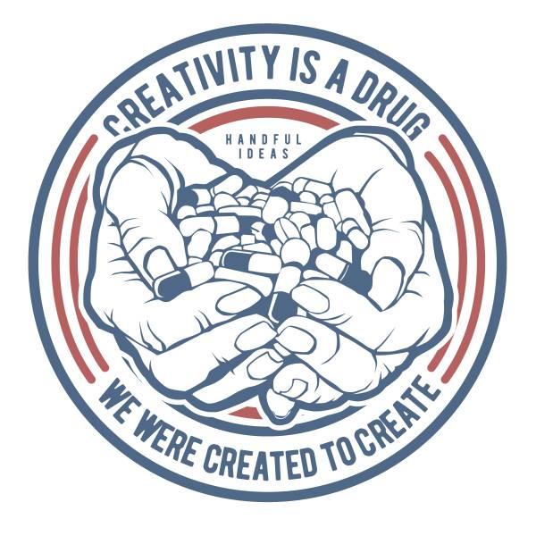 T-shirt unisex Takeposition T-cool λευκό Creativity is a dryg, 900-2502