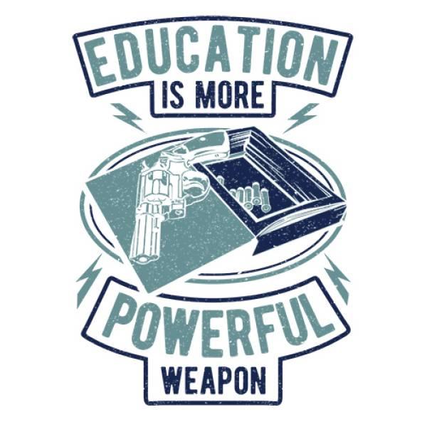 T-shirt unisex Takeposition T-cool λευκό Education more Poreful, 900-2504