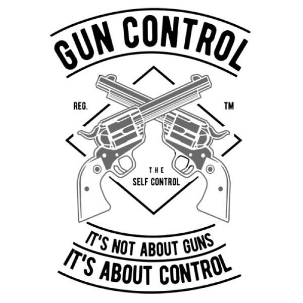 T-shirt unisex Takeposition T-cool λευκό Gun control, 900-2505