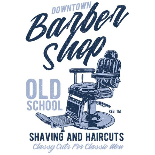 T-shirt unisex Takeposition T-cool λευκό Barber Shop, 900-3502