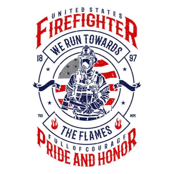 T-shirt unisex Takeposition T-cool λευκό Firefighter, 900-3505