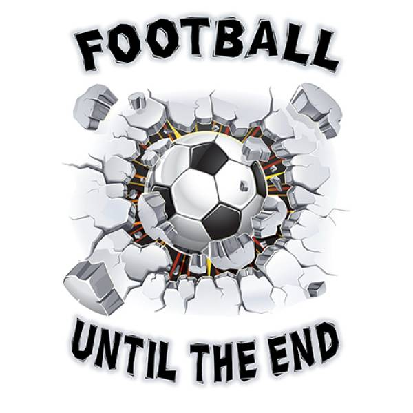 T-shirt unisex T-cool λευκό Football until the end, 900-5529