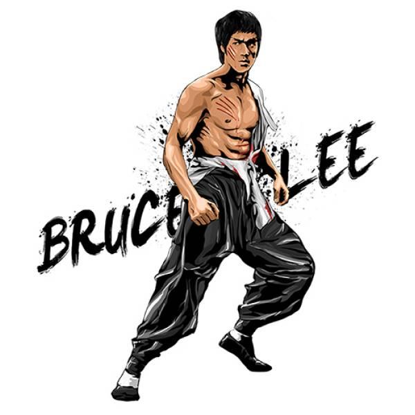 T-shirt unisex Takeposition T-cool λευκό Bruce Lee 900-8510