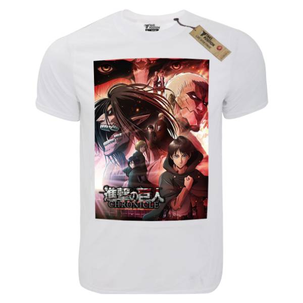 T-shirt unisex Takeposition T-cool λευκό Attack on Titan Chronicle, 900-1027