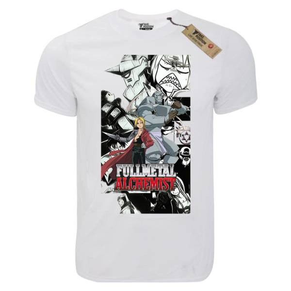 T-shirt unisex Takeposition T-cool λευκό Crazy FullMetal Alchemist , 900-1020