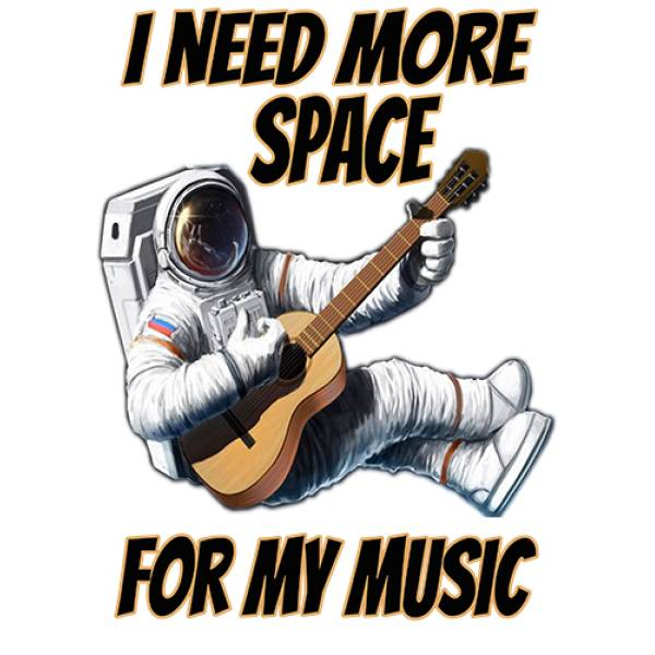 T-shirt unisex T-cool λευκό More space More music, 900-7677