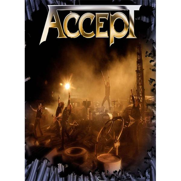 T-shirt unisex T-cool λευκό Accept concert, 900-7683