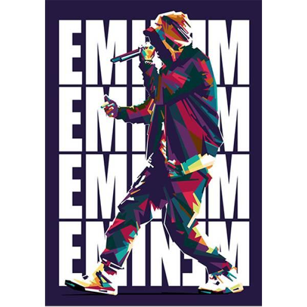 Hoodie φούτερ με κουκούλα Takeposition H-cool Eminem Art λευκή 907-7523