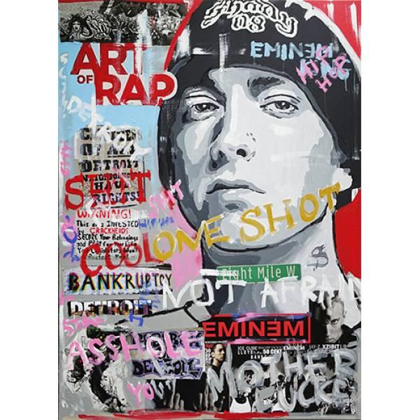 Hoodie φούτερ με κουκούλα Takeposition H-cool Eminem Art of Rap λευκή 907-7525