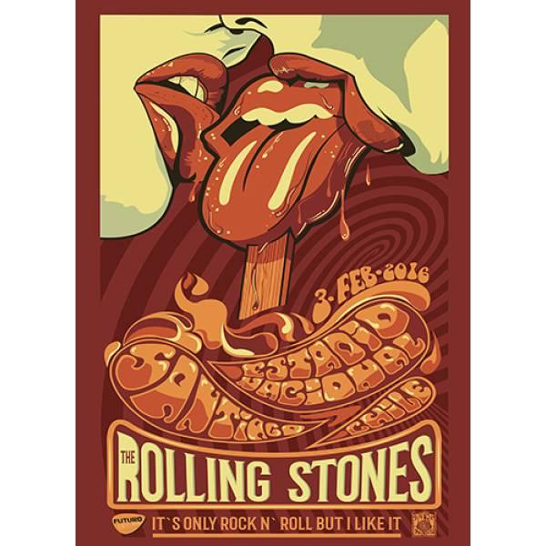 T-shirt unisex Takeposition T-cool λευκό Rolling stones Santiago, XLARGE, 900-7590-XLARGE-PROSF