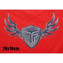 ΜΠΛΟΥΖΑ SMOOTH ΦΟΥΤΕΡ 300GR TAKEPOSITION,80% COTTON, SLIM FIT,  TP IRON WINGS, ΜΑΥΡΟ, 318-0017