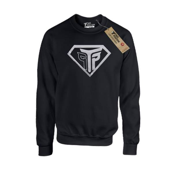 Μπλούζα φούτερ 270gr Takeposition, Super Silver, Μαύρο, 311-0019