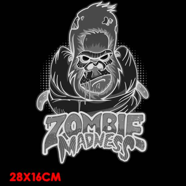 T-SHIRT ΒΑΜΒΑΚΕΡΟ TAKEPOSITION ZOMBIE MADNESS, ΜΑΥΡΟ, 307-1510