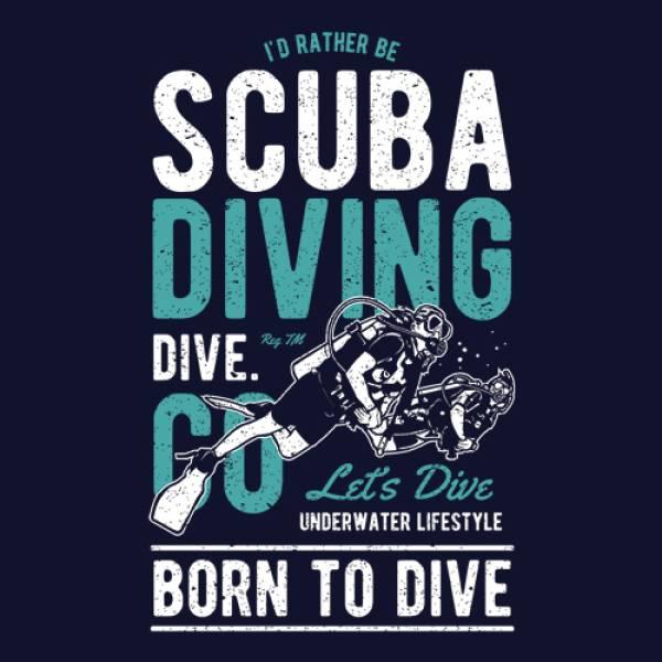 T-shirt γυναικεία Takeposition, Scuba diving, Μπλε, 504-2001