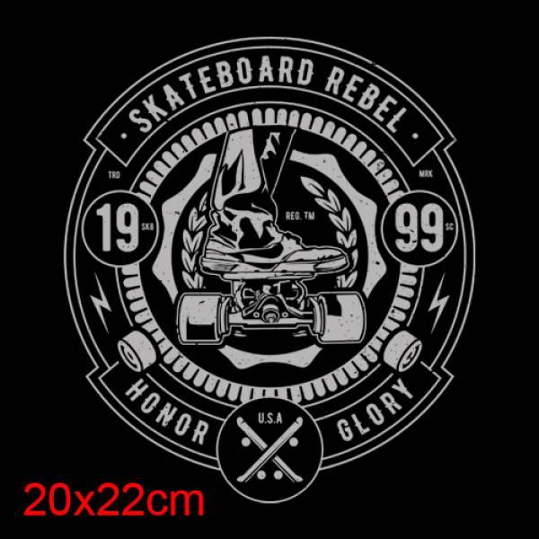 T-shirt κοντομάνικα ΒΑΜΒΑΚΕΡΟ Takeposition Scateboard rebel μαύρο, 307-2002