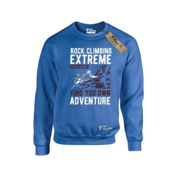 Takeposition μπλούζες φούτερ Rock climing, Μπλε, 311-5510