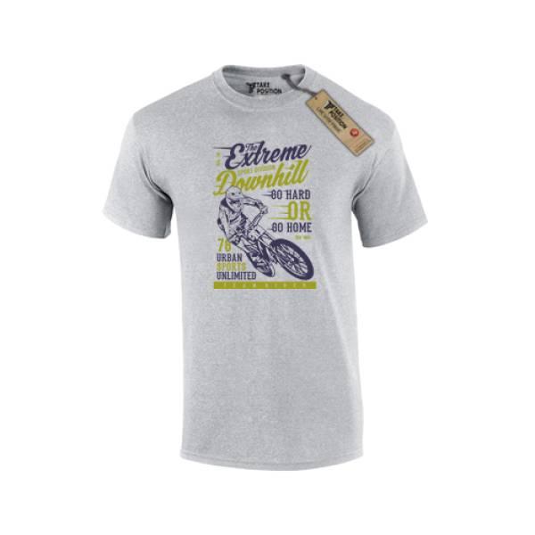 T-shirt ανδρικό Takeposition Extreme Downhill, Γκρι, 307-5512