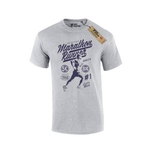 T-shirt ανδρικό Takeposition Maratthon Runner, Γκρι, 307-5513