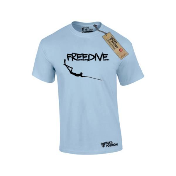 Μπλουζάκια κοντομάνικα ανδρικά Takeposition Freedive, γαλάζιο, 307-5518