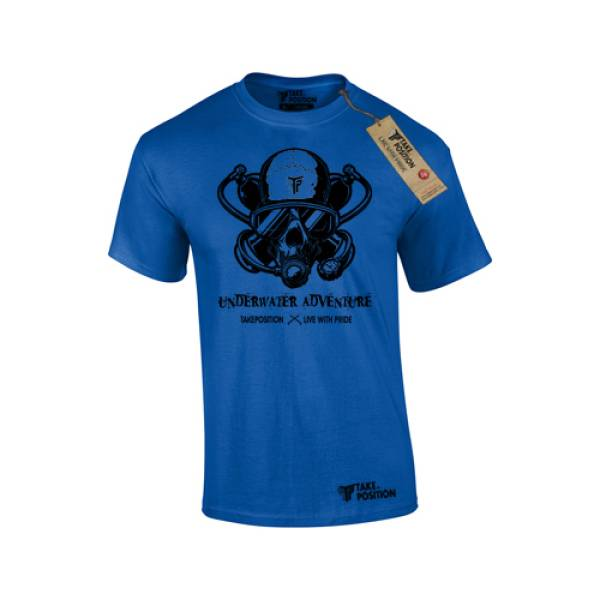 Takeposition t-shirt ανδρικά Underwater adventure, μπλε, 307-5519