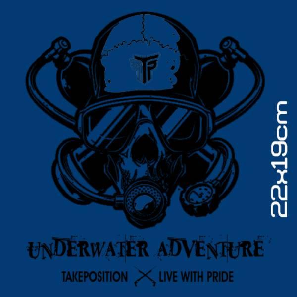 Takeposition ανδρικές μπλούζες τιράντα, Underwater adventure , λευκό, 309-5519