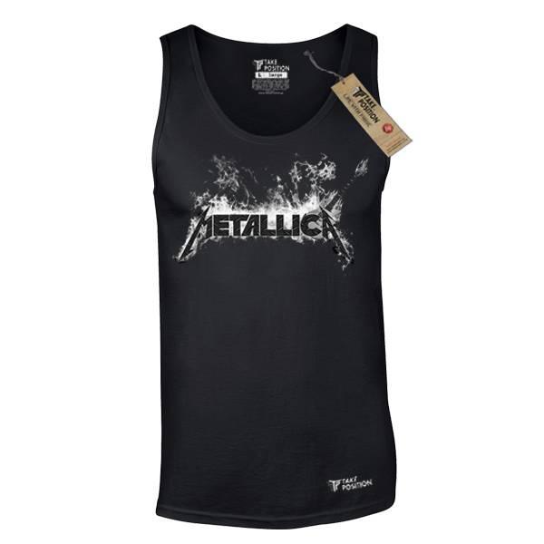 Ανδρική μπλούζα τιράντα Takeposition Metallica μαύρο 309-7501