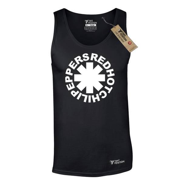 Ανδρική μπλούζα τιράντα Takeposition Red Hot μαύρο 309-7507