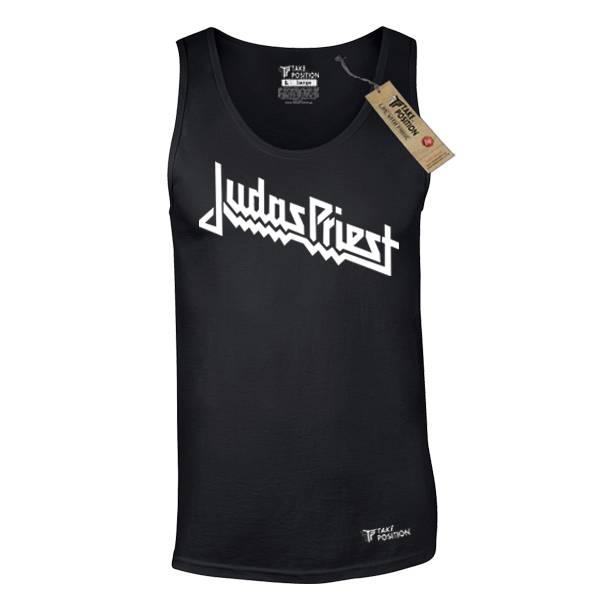 Ανδρική μπλούζα τιράντα Takeposition Judas Priest μαύρο 309-7512