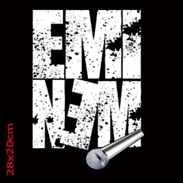 Ανδρικό μπλουζάκι τιραντέ Takeposition, Eminem, Μαύρο, 309-7518