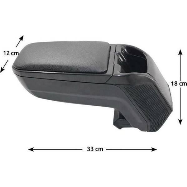 Κονσόλα Χειροφρένου Δερματίνη Μαύρη ArmRest, Autoline, , 14182