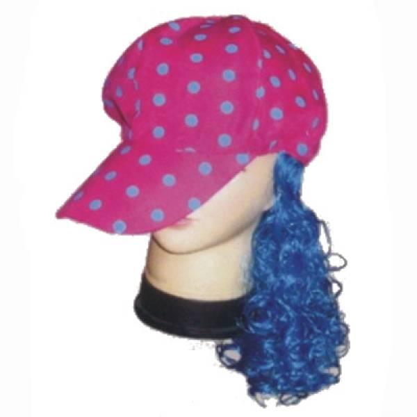 Αστείο τζόκεϊ πουά ροζ με μπλε μαλλιά, AJ520
