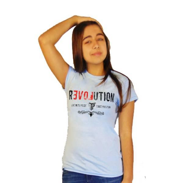 T-SHIRT ΓΥΝΑΙΚΕΙΟ TAKEPOSITION, REVOLUTION, 7 ΧΡΩΜΑΤΑ, 504-5008