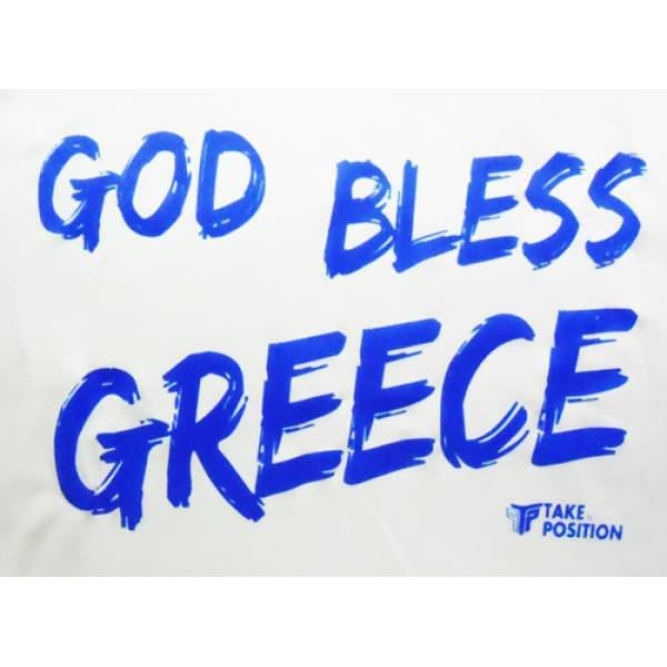 ΜΠΛΟΥΖΑΚΙ V ΛΑΙΜΟΚΟΨΗ ΓΥΝΑΙΚΕΙΟ TAKEPOSITION, GOD BLESS GREECE, 4 ΧΡΩΜΑΤΑ, 502-5014