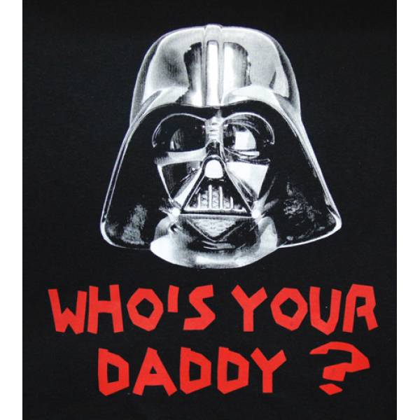 T-SHIRT ΑΝΔΡΙΚΟ ΒΑΜΒΑΚΕΡΟ 150GR, TAKEPOSITION, WHO'S YOUR DADDY, ΜΑΥΡΟ, 307-7007